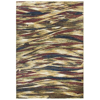 Phillip Gold/Brown Area Rug Rug Size: Rectangle 8 x 10