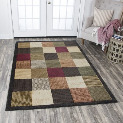 Phillip Black/Brown Area Rug Rug Size: Rectangle 52 x 73