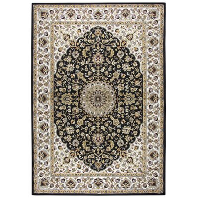 Adkisson Black Area Rug Rug Size: 33 x 53