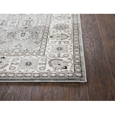 Adkisson Gray Area Rug Rug Size: Rectangle 2'3