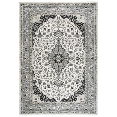 Adkisson Ivory Area Rug Rug Size: Rectangle 53 x 76