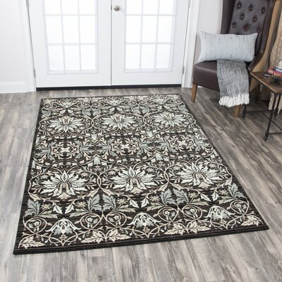 Pratt Black Rizlon Area Rug Rug Size: Rectangle 53 x 76