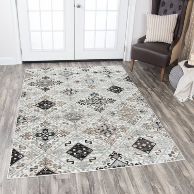 Pratt Ivory Area Rug Rug Size: Rectangle 53 x 76