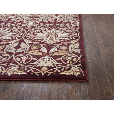 Adkisson Red Area Rug Rug Size: Rectangle 67 x 96