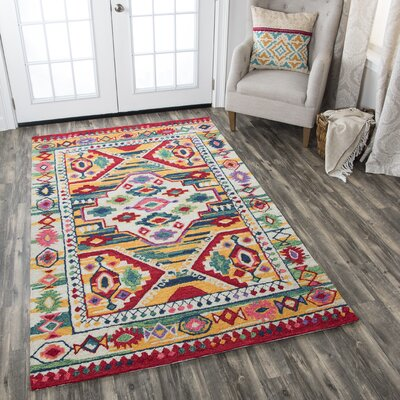Duron Hand-Tufted Wool Natural/Khaki Area Rug Rug Size: 5 x 8