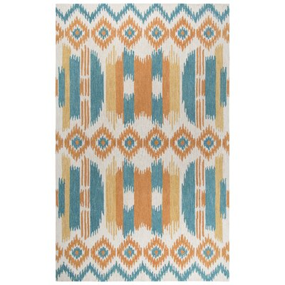 Duron Hand-Tufted Wool Blue/Natural Area Rug Rug Size: 9 x 12
