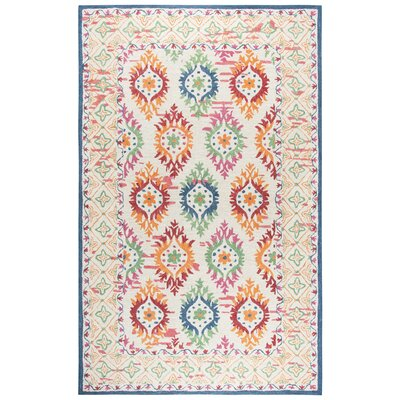 Duron Hand-Tufted Wool Ivory/Beige Area Rug Rug Size: Rectangle 5 x 8