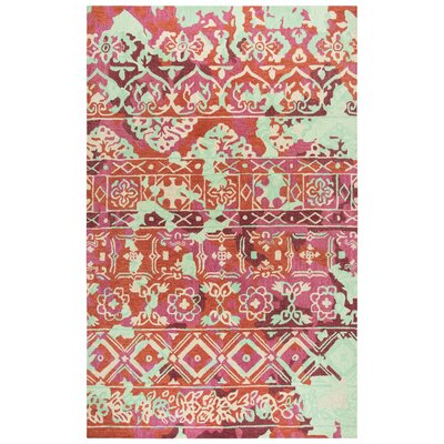 Duron Hand-Tufted Pink/Red Area Rug Rug Size: Rectangle 5 x 8