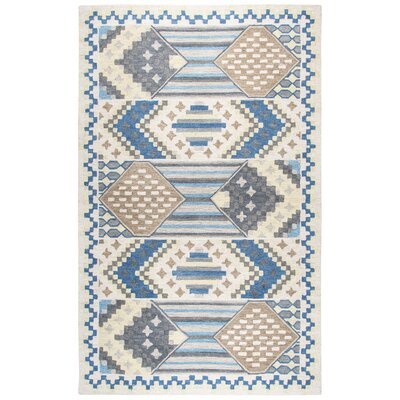Duron Hand-Tufted Blue/Gray Area Rug Rug Size: 3 x 5