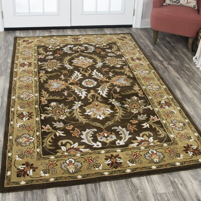 Altona Hand-Tufted Brown Area Rug Rug Size: Rectangle 10 x 13