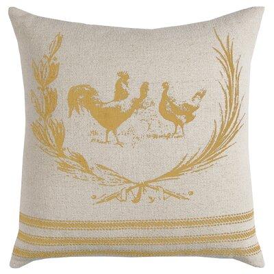 Jamie Decorative 100% Cotton Throw Pillow