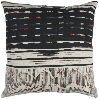 Darcio Decorative 100% Cotton Throw Pillow Color: Black