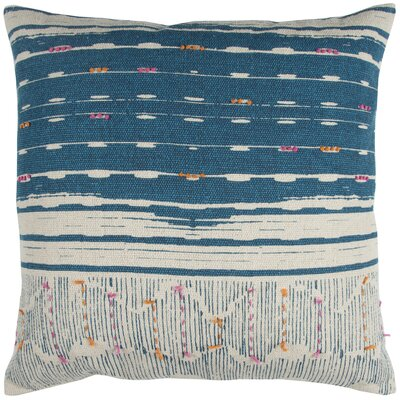 Darcio Decorative 100% Cotton Throw Pillow Color: Blue