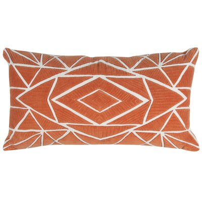 Bretagne Decorative 100% Cotton Throw Pillow Color: Orange