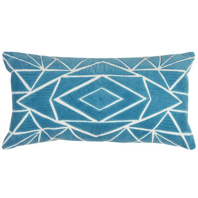 Bretagne Decorative 100% Cotton Throw Pillow Color: Peacock Blue