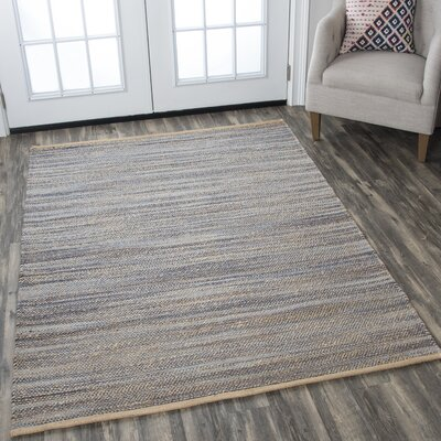 Carillon Hand Woven Navy Area Rug Rug Size: Rectangle 7 x 10