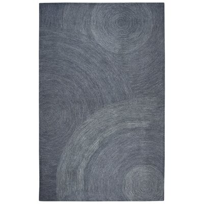 Prachi Hand-Tufted 100% Wool Indigo Area Rug Rug Size: Rectangle 9 x 12