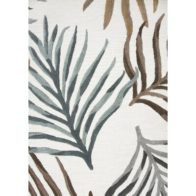 Bedford Hand-Tufted Wool Cream Area Rug Rug Size: Runner 26 x 8
