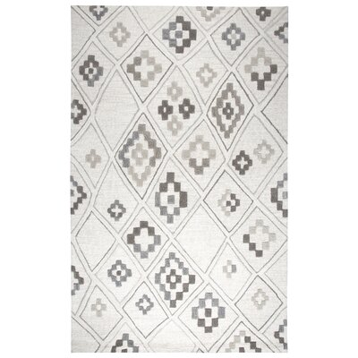 Norwich Hand-Tufted Wool Gray Area Rug Rug Size: 2 x 3