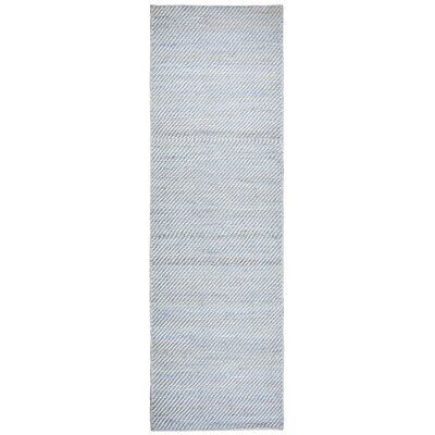Guilford Hand-Woven Wool Gray Area Rug Rug Size: Runner 26 x 8