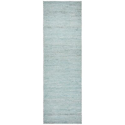 Killington Hand-Woven Wool Blue Area Rug Rug Size: Runner 26 x 8
