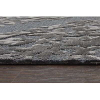 Basil Hand Tufted Wool Slate Area Rug Rug Size: Rectangle 9 x 12