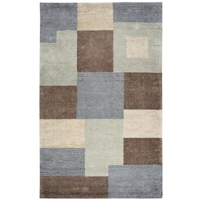 Hogan Hand Tufted Wool Gray/Green Area Rug Rug Size: Rectangle 5 x 8