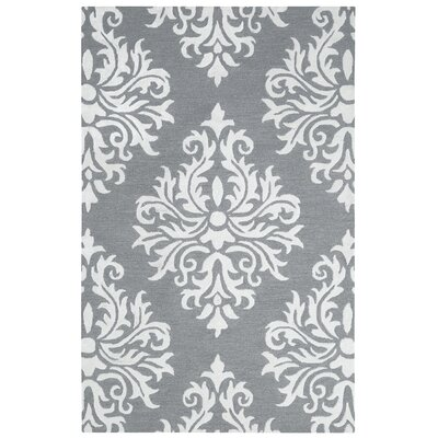 Pepper Hand Tufted Wool Heather Gray Area Rug Rug Size: 2 x 3