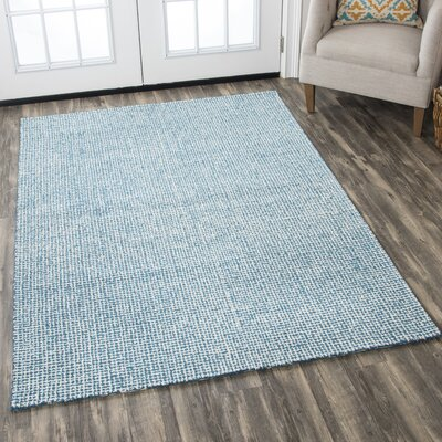 Landgrove Hand-Tufted 100% Wool Teal Area Rug Rug Size: Rectangle 9 x 12