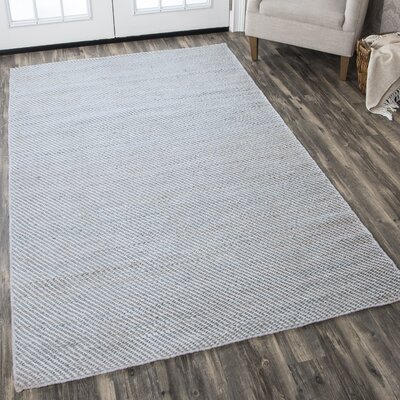 Guilford Hand-Woven Wool Gray Area Rug Rug Size: 3 x 5