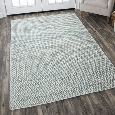 Killington Hand-Woven Wool Blue Area Rug Rug Size: 5 x 8