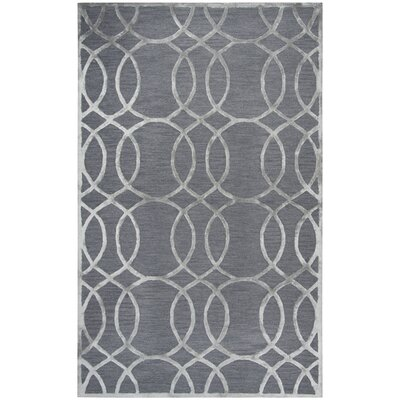 Fabian Hand Tufted Wool Gray Area Rug Rug Size: Rectangle 5 x 8