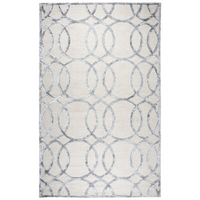 Fabian Hand Tufted Wool Cream Area Rug Rug Size: 9 x 12