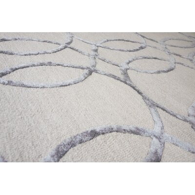 Fabian Hand Tufted Wool Cream Area Rug Rug Size: Runner 26 x 8