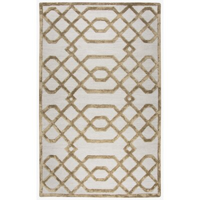 Fabian Geometric Hand Tufted Wool Cream Area Rug Rug Size: 9 x 12