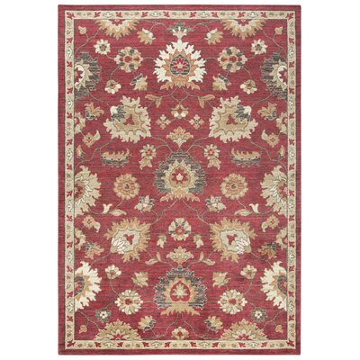 Corban Wool Red/Beige Area Rug Rug Size: 10 x 13