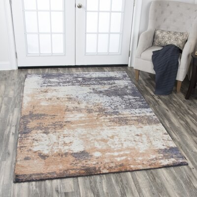 Vikesha Wool Beige/Brown Area Rug Rug Size: 8 x 10