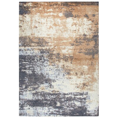 Vikesha Wool Beige/Brown Area Rug Rug Size: 3 x 5