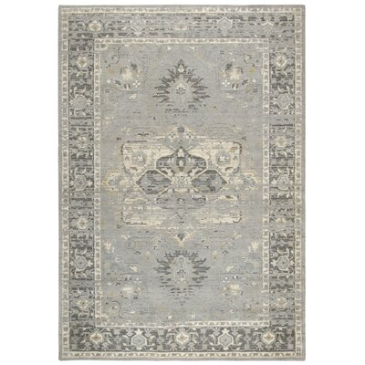 Esmeyer Handmade Wool Gray Area Rug Rug Size: Rectangle 5 x 8