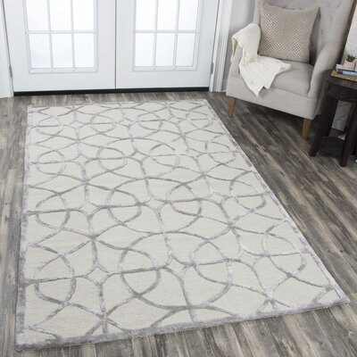 Beryl Hand Tufted Wool Denim Area Rug Rug Size: 5 x 8