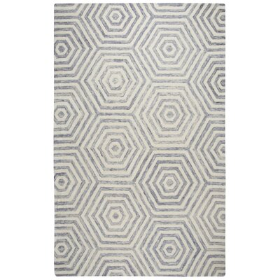 Malcolm Hand-Tufted Wool Light Gray Area Rug Rug Size: Rectangle 5 x 8