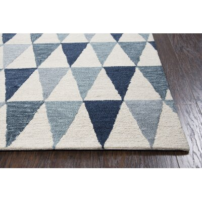 Malcolm Hand-Tufted Wool Gray/Blue Area Rug Rug Size: Runner 26 x 8