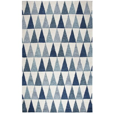 Malcolm Hand-Tufted Wool Gray/Blue Area Rug Rug Size: Rectangle 5 x 8