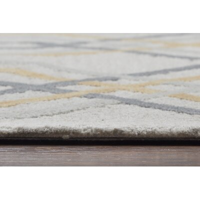 Malcolm Hand-Tufted Wool Cream Area Rug Rug Size: Rectangle 5 x 8