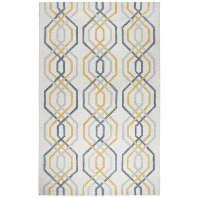 Malcolm Hand-Tufted Wool Cream Area Rug Rug Size: 9 x 12