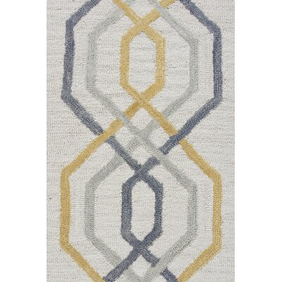 Malcolm Hand-Tufted Wool Cream Area Rug Rug Size: Rectangle 8 x 10