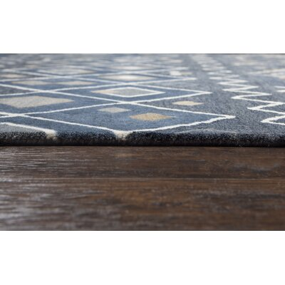 Nona Hand-Tufted Wool Indigo Area Rug Rug Size: Rectangle 9 x 12