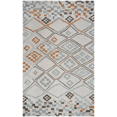 Dollard Hand-Tufted Wool Gray Area Rug Rug Size: Rectangle 5 x 8