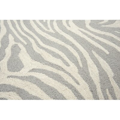 Harpreet Hand-Tufted Wool Beige/Gray Area Rug Rug Size: Rectangle 5 x 8