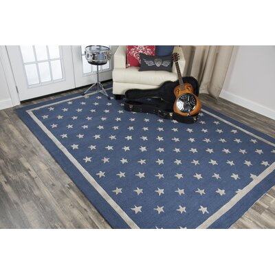 Juno Hand-Tufted Wool Navy Area Rug Rug Size: Rectangle 8 x 10